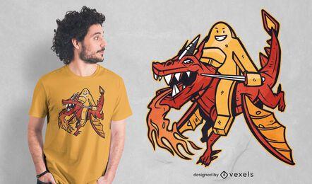 Diseño de camiseta Meeple Dragon