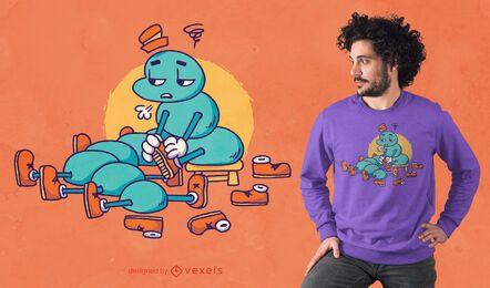 Centipede shoes t-shirt design