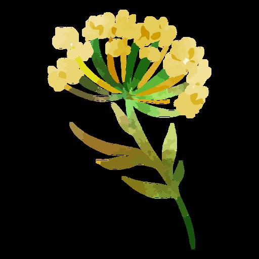 Hermosas flores amarillas acuarelas