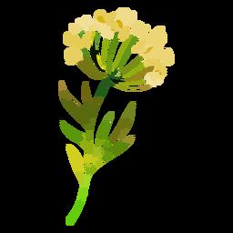 Acuarela de flores amarillas