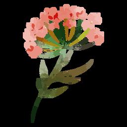 Acuarela de flores rojas