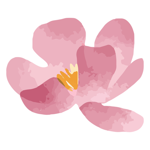 Watercolor pink bloom