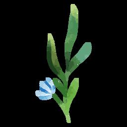 Flor de aquarela ramo azul