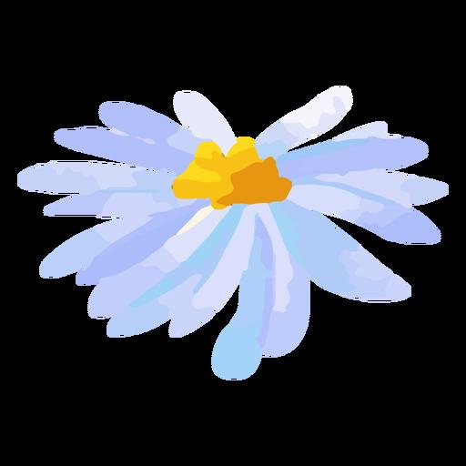 Purple daisy petals watercolor