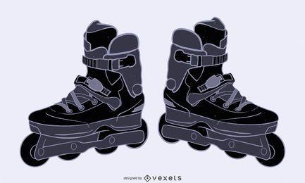 Sapatos de patins 2
