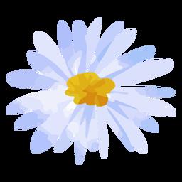 Acuarela de margarita flor