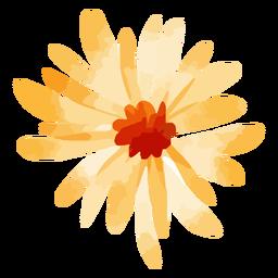 Acuarela de flor de girasol