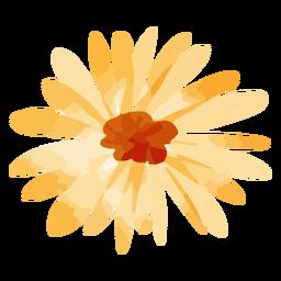 Acuarela de girasol amarillo