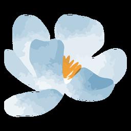 Acuarela de pequeña flor azul
