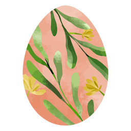 Yellow flower easter egg watercolor