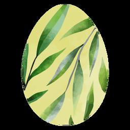 Huevos de pascua hojas acuarela