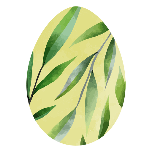 Easter eggs leaves watercolor Transparent PNG
