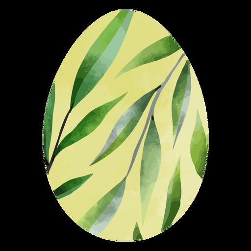 Easter eggs leaves watercolor