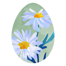 Daisy easter egg watercolor
