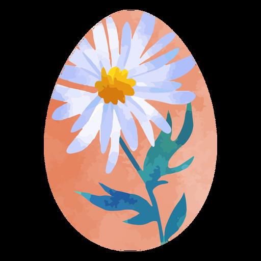 Daisy flower easter egg watercolor