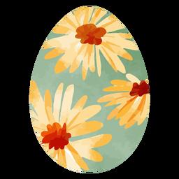 Acuarela de huevo de pascua de girasol