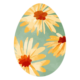 Sunflower easter egg watercolor