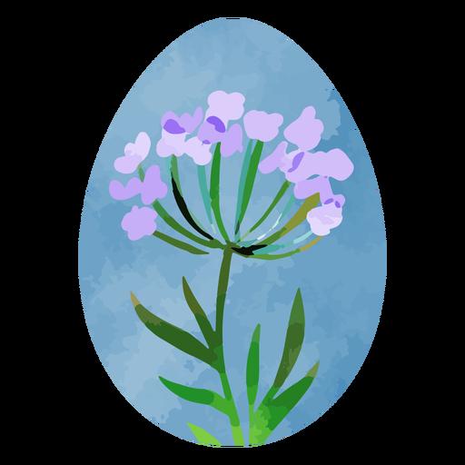 Lavender easter egg watercolor