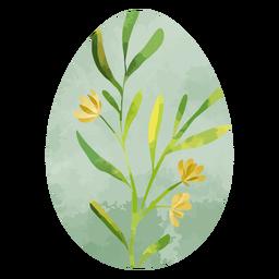 Flores de acuarela de huevo de pascua