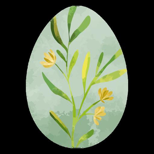 Easter egg watercolor flowers