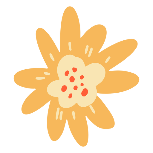 Flache Blütenblätter