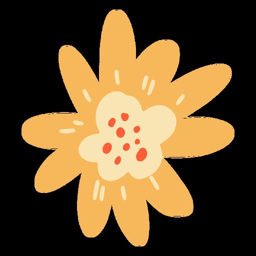 Flat flower petals