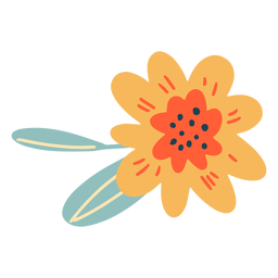 Flor simple plana