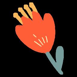 Flor plana naranja