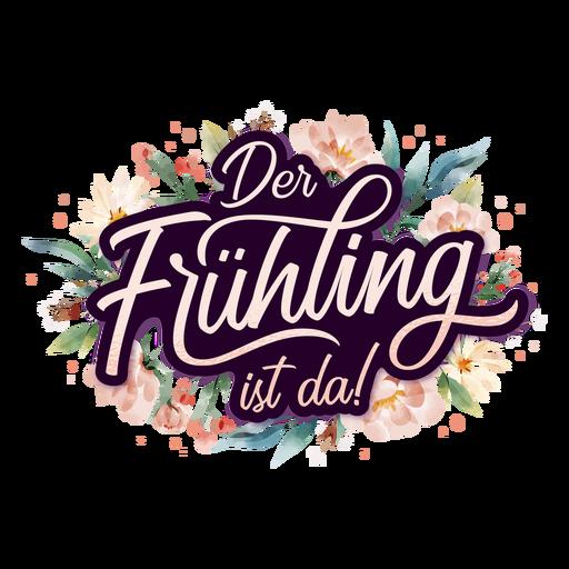 Spring is here german lettering