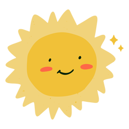 Happy sun flat