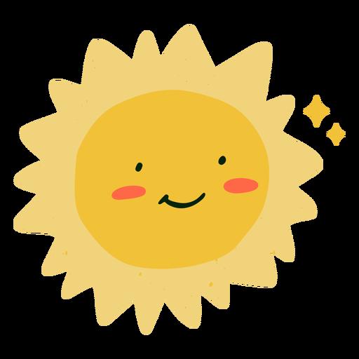 Glückliche Sonne flach