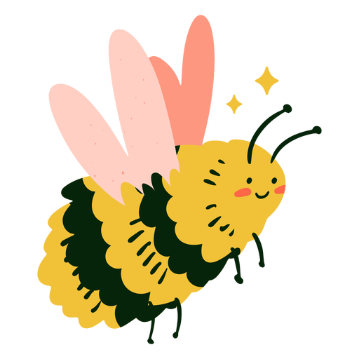 Happy bee flat
