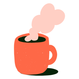 Hot coffee flat