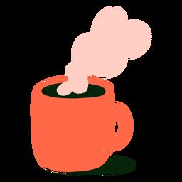 Plano de café caliente