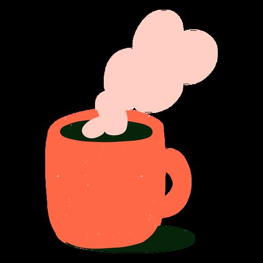Hot coffee flat