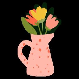 Florero rosa plano
