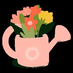 Regadera rosa plana