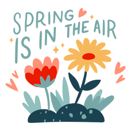 Spring in the air badge