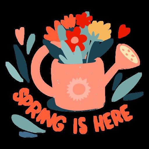 La primavera está aquí insignia plana Transparent PNG