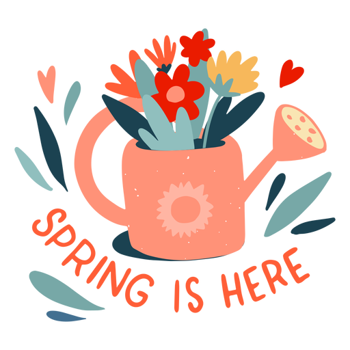 Spring is here flat badge