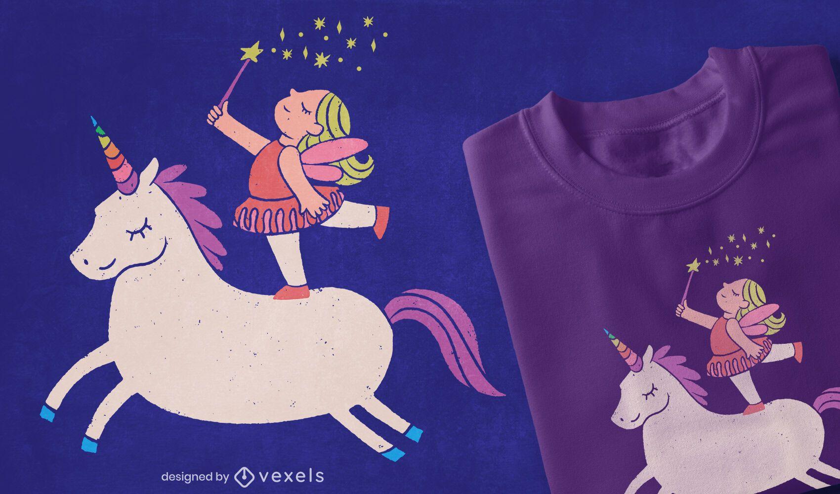 Unicorn fairy t-shirt design