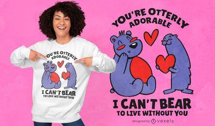 Diseño de camiseta adorable