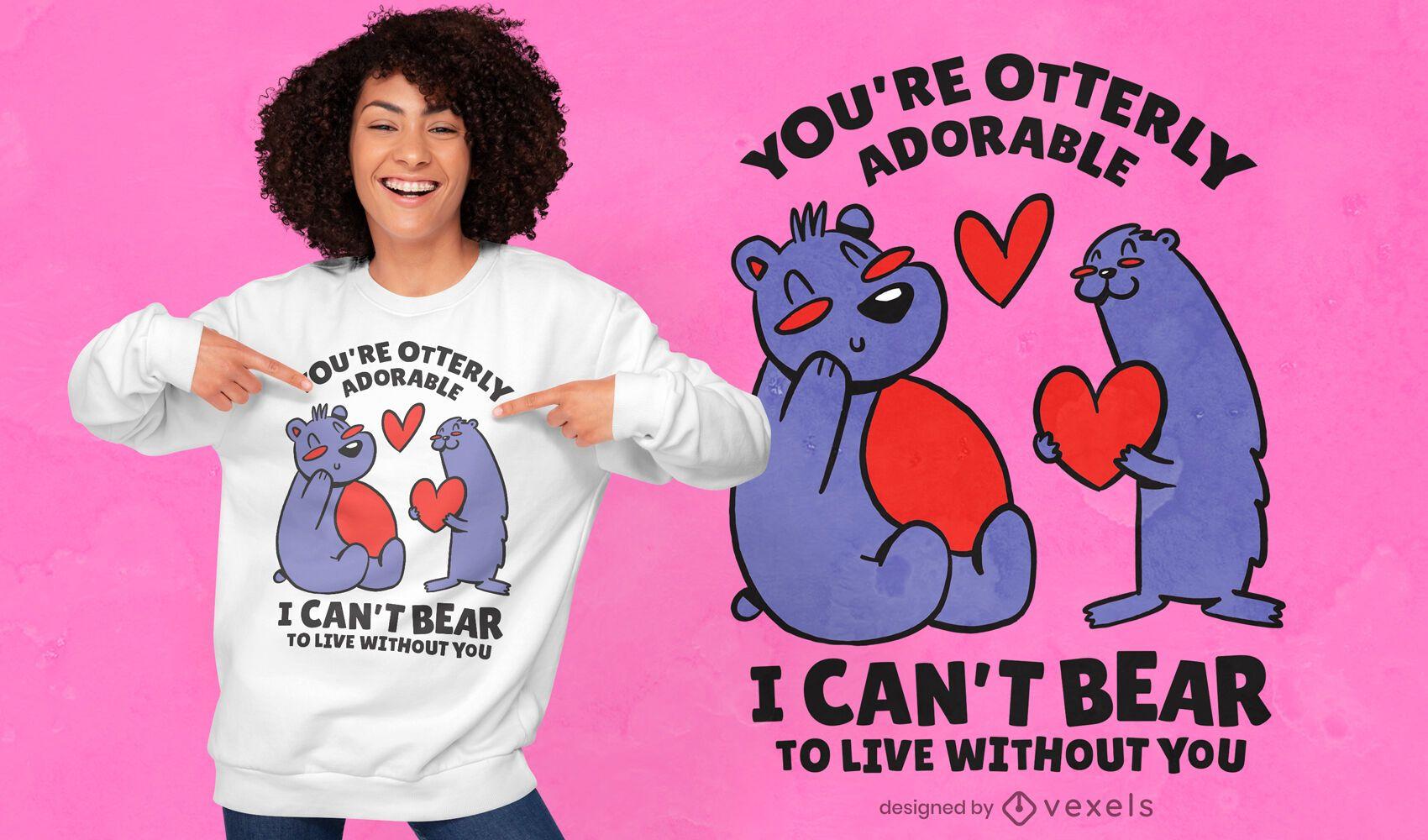 Otterly adorable t-shirt design