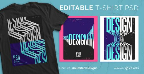 Perspectives scalable t-shirt psd