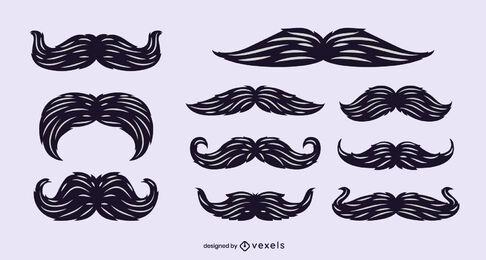 Conjunto de vetores de bigodes