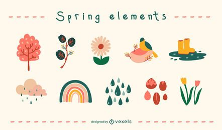 Spring flat elements