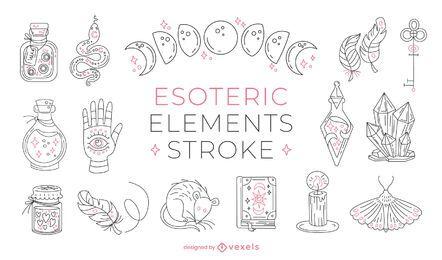 Trazo de elementos esotéricos