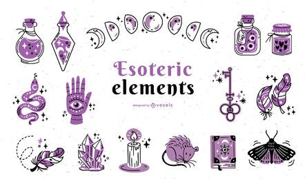 Esoteric elements color-stroke