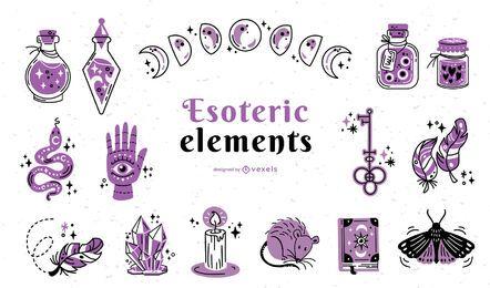 Esoterische Elemente Farbstrich