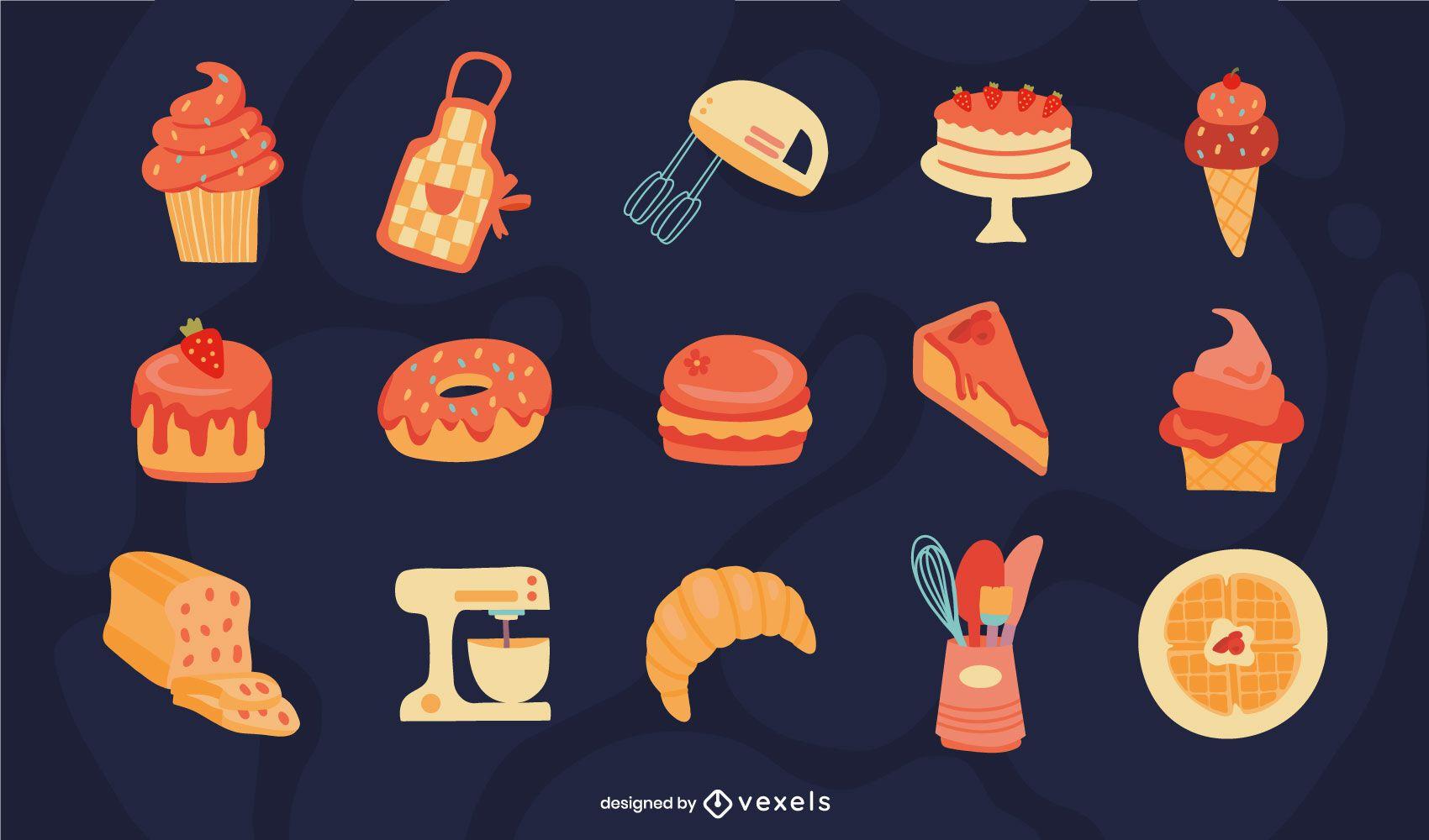 Conjunto plano de panadería